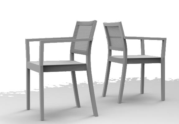ST4N Gritsch, Holzsitz, lange Armstützen