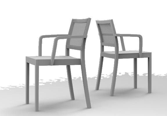 ST4N Gritsch, Holzsitz, kurze Armstützen