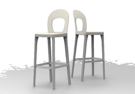 Sitz gepolstert, Rücken Holz, SH 79