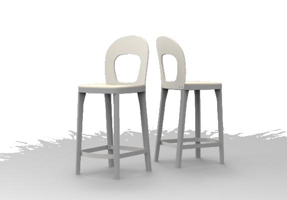 Sitz gepolstert, Rücken Holz, SH 63